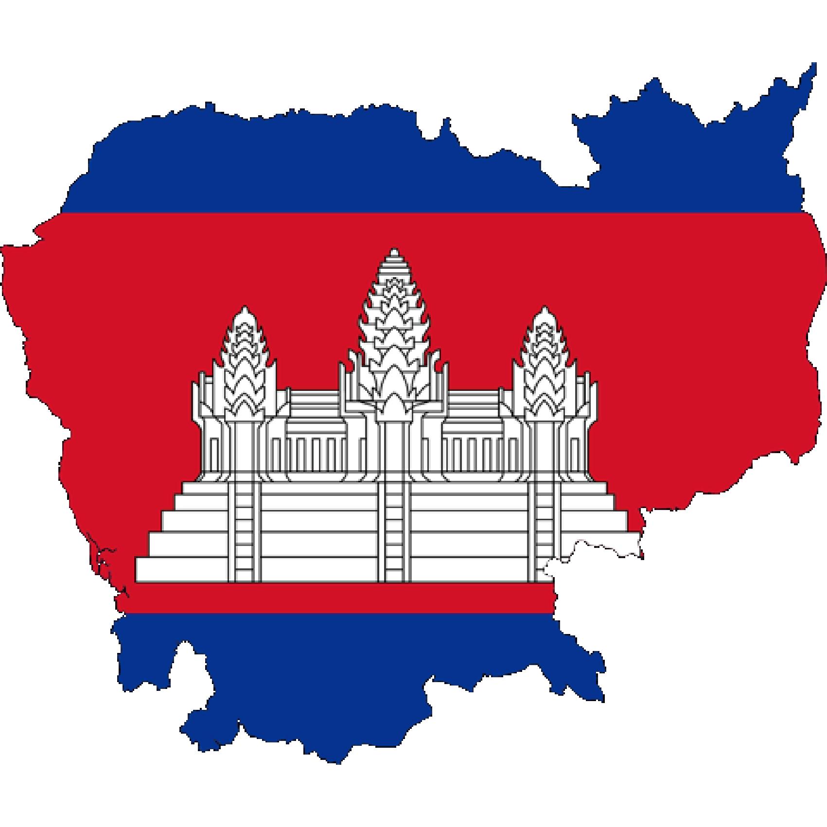 Flag of Cambodia, the partner of barskorea.