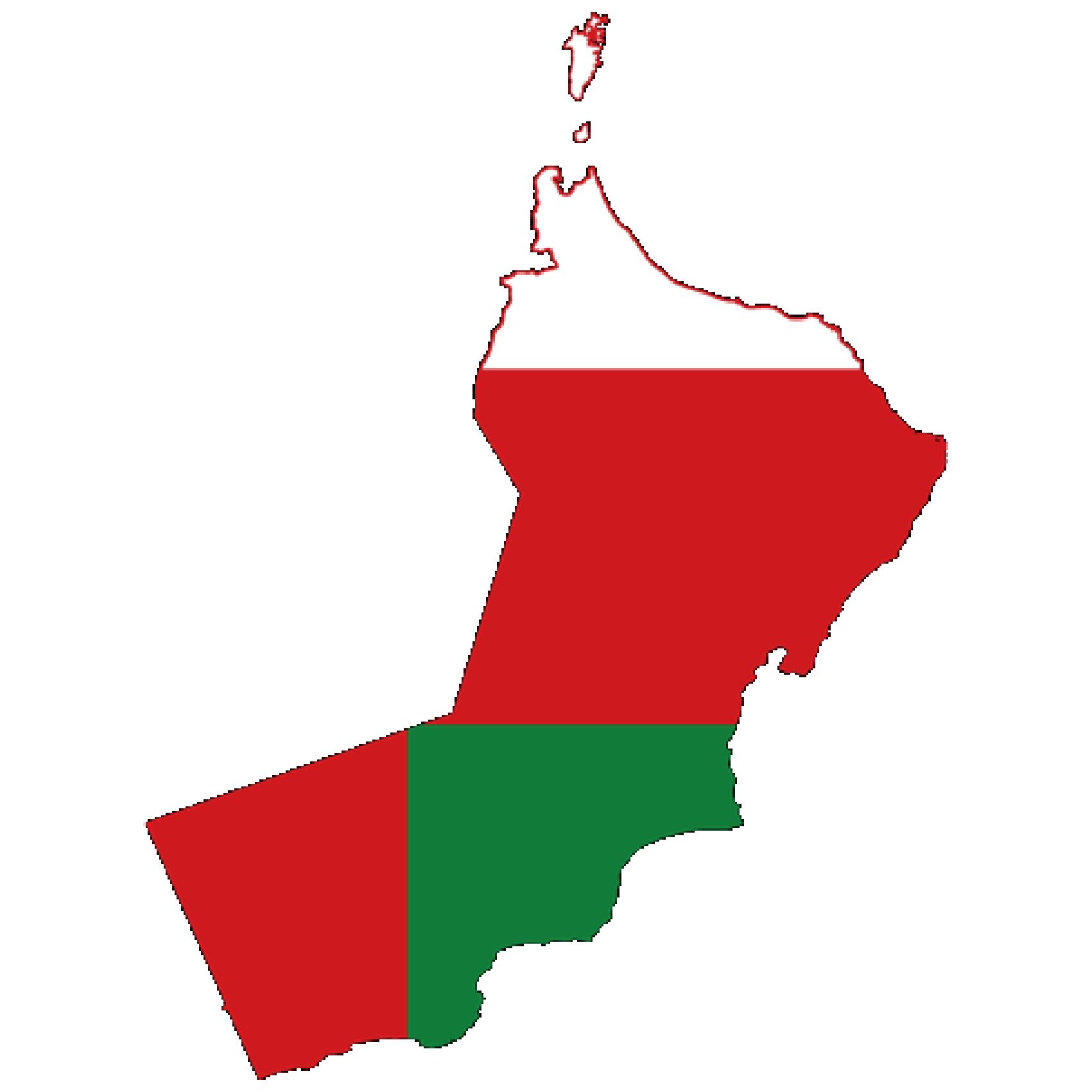 Flag of Oman, the partner of barskorea.